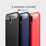 Nokia C1 Carbon Fiber Калъф и Протектор
