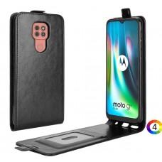 Motorola Moto G9 / G9 Play R64 Flip3 Кожен Калъф и Протектор
