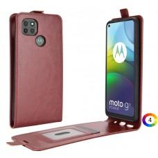 Motorola Moto G9 Power Flip3 Кожен Калъф и Протектор