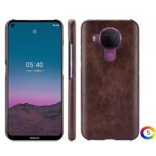Nokia 5.4 Удароустойчив Litchi Skin Калъф и Протектор