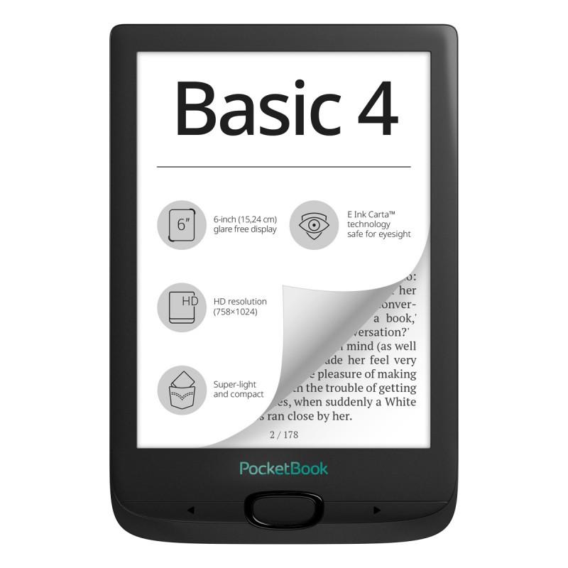 PocketBook Basic 4, E Ink Carta, 212 DPI eBook Четец
