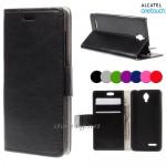 Alcatel Idol 2 Mini Magnetic Wallet Кожен Калъф и Скрийн Протект