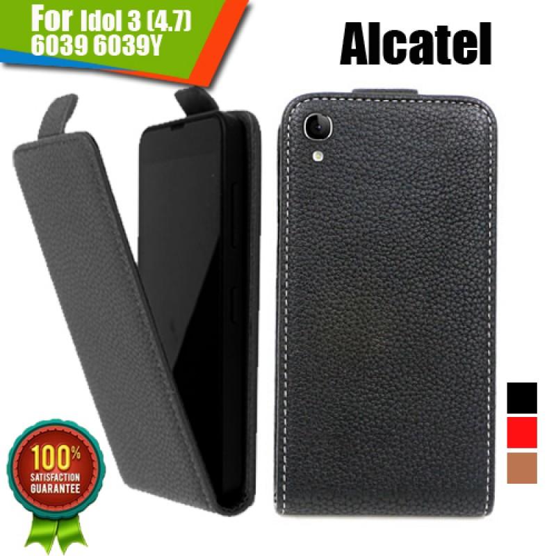 Alcatel Idol 3 (4.7) 6039 6039Y Флип Кожен Калъф и Протектор