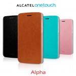 Alcatel Idol Alpha Mofi Wallet Кожен Калъф + Стилус