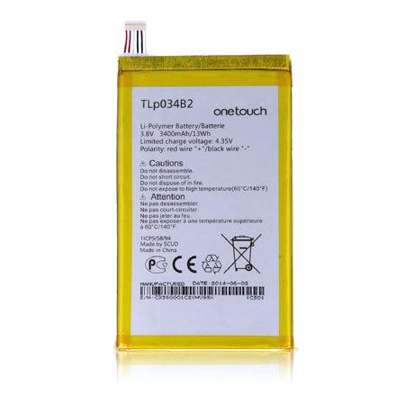 Alcatel TLp034B2 Оригинална Батерия 3400mAh