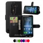 Asus Zenfone 2 ZE500CL Magnetic Wallet Кожен Калъф и Протектор