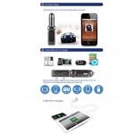 Bluedio BC06 Bluetooth FM Трансмитер с Hands Free Функция
