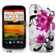 HTC Desire X Flora V5 Силиконов Калъф + Протектор