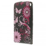 Huawei Ascend G6 Black Butterfly Флип Калъф + Протектор