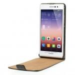 Huawei Ascend P7 Флип Кожен Калъф + Протектор