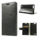 Huawei Ascend P7 Magnetic Wallet Кожен Калъф + Протектор