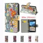 Huawei Ascend G6 Painted Wallet Кожен Калъф + Протектор