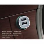 Remax Dual USB Зарядно за Автомобил 12V - 24V 2.1A 2 USB Порта