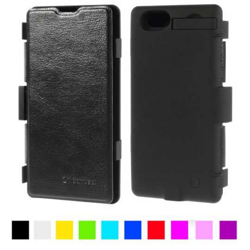 Wallet Калъф с Батерия 3200mAh за Sony Xperia Z1 Compact
